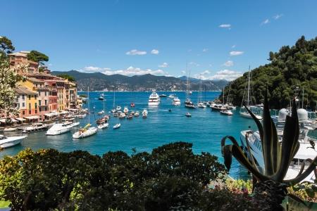Summer vacation in Portofino village, Ligurian Coast, Italy