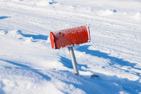 winter frozen mail box under snow Stock Photo - 18517584