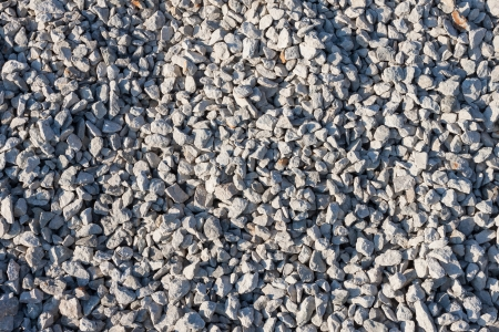 Small pebble stones on  construction site photo
