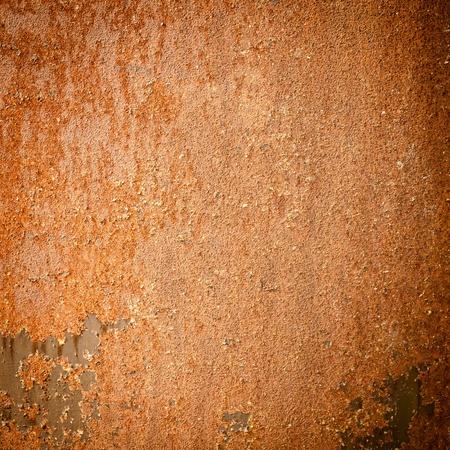 Rusty dark grunge texture metal background photo