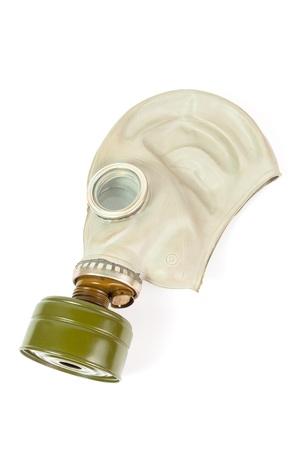 Soviet gas mask isolated over white background Stock Photo - 20750137
