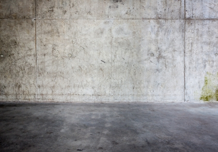 concrete wall: Grungy concrete wall and floor as background Stock Photo