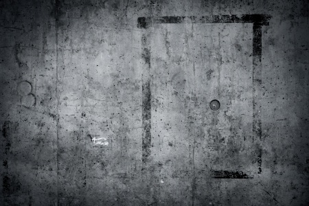 dark room: Grungy concrete wall and floor as background Stock Photo
