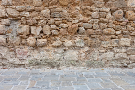 Old ancient stone wall and floor texture