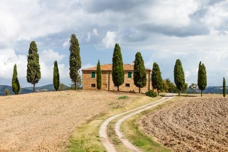 typical Tuscany landscape and farm, Italy photo