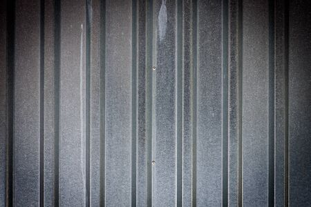 Corrugated metal texture as a surface background photo