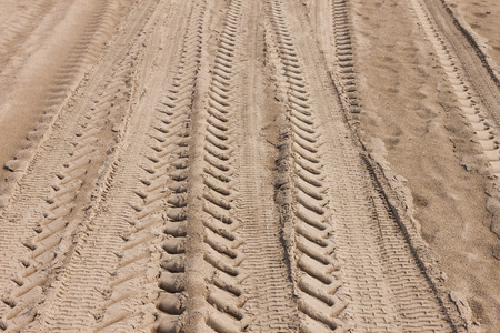 Tire Tracks in the Sand photo