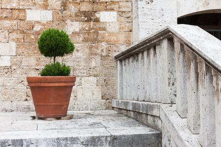 Italian traditional home decorations, Tuscany streets photo