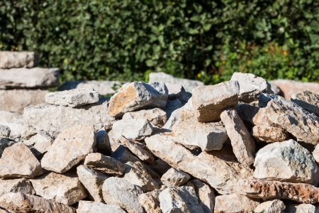 Pile of natural rocks - for construction photo