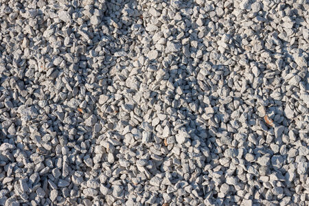 Small gravel pebble stones on  construction site photo