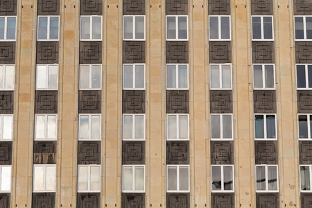 repetitious: Regular structure of windows - modern building