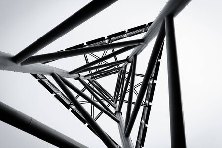 metal structure: technology abstract metal structure