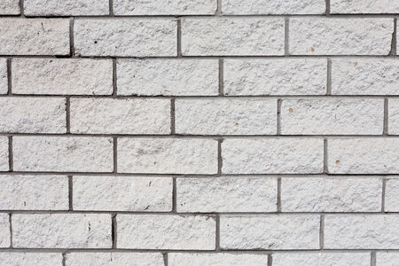 White grunge brick wall as a texture background photo