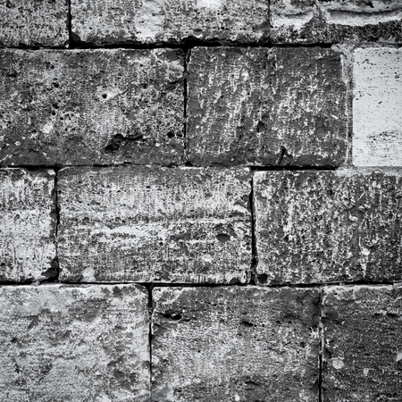 Very old brick wall texture background photo