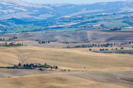 Tuscany autumn landscape in the early morning photo