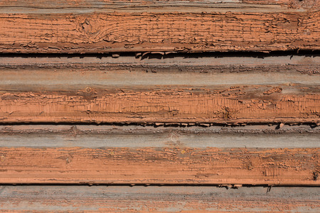Old wooden painted and chipping paint texture photo