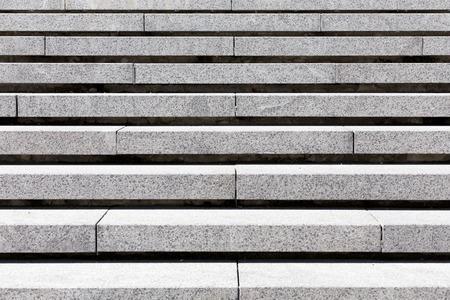 detail of gray stone granite stairs, horizontal photo