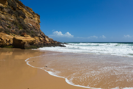 Burgau Beach near Lagos, Algarve, south Portugal