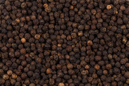zoomed: Black pepper zoomed in on and close up texture