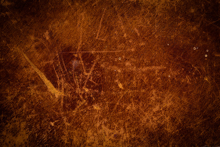 Grunge and old leather texture with dark edges Imagens
