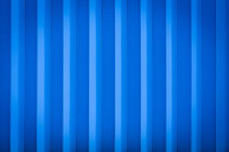 Blue rolling shutter door texture vertical lines photo