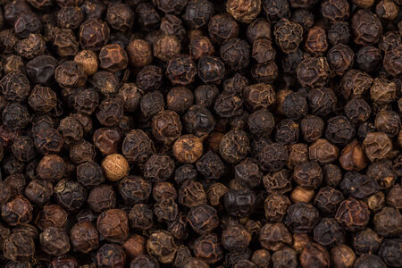 zoomed in: Black pepper zoomed in on and close up texture