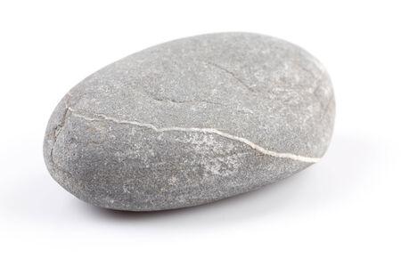 roundish: Zen stone - isolated over white background with reflection Stock Photo