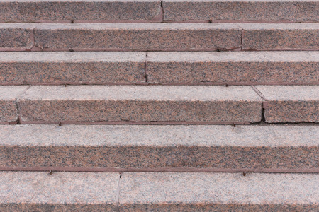 Stairs made of a red granite photo