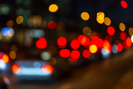 trafic: Photo of bokeh street trafic lights as background