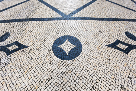 tiled floor in portuguese traditional style photo