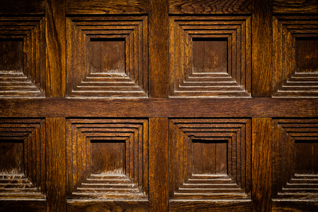 close-up image of an wooden ancient door photo