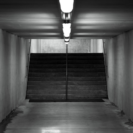 underground passage: Staircase in underground passage - made from concrete material