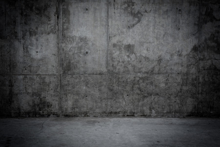 Grungy concrete wall and stone floor room as background Standard-Bild