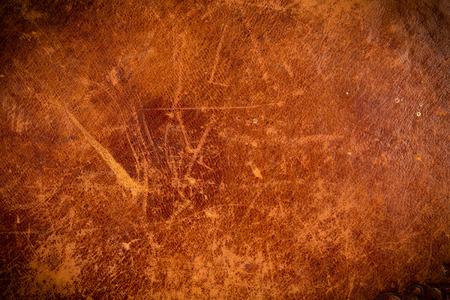 グランジとダーク エッジの古い革の質感 写真素材