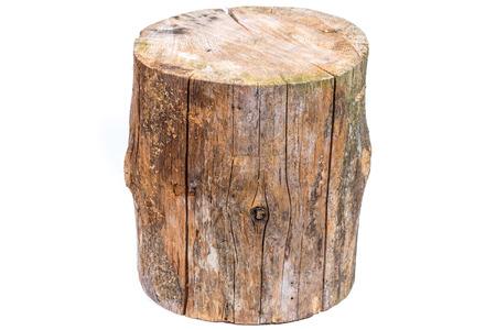 Wood log isolated on a white background photo