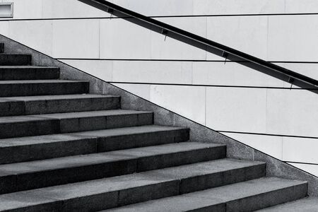 concrete structure: stair concrete staircase at the entrance to the building Stock Photo