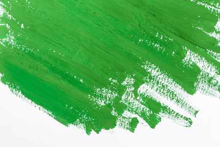 brash: abstract green paint brush strokes watercolor background on white paper