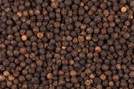 Black pepper zoomed in on and close up texture photo