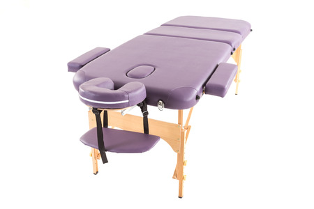 massage bed table under the white background