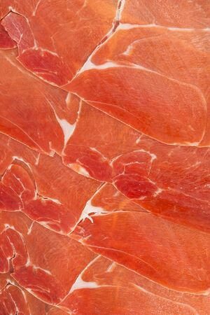 iberico: Spanish jamon iberico sliced, background