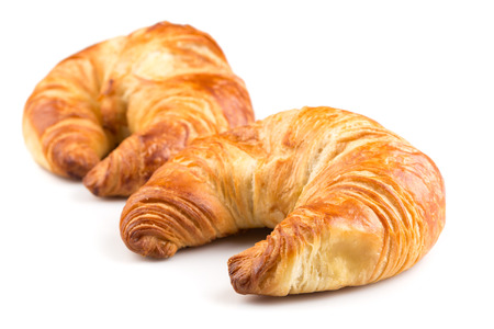 Fresh croissant isolated on the white background Stok Fotoğraf
