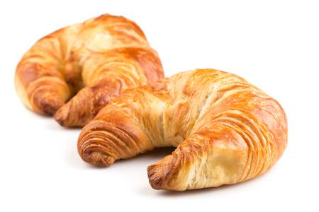 Fresh croissant isolated on the white background Standard-Bild
