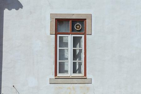 broken glass window: House with broken glass window