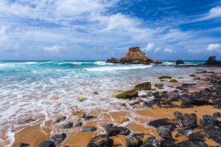 region of algarve: Algarve region coast beach, Portugal Stock Photo