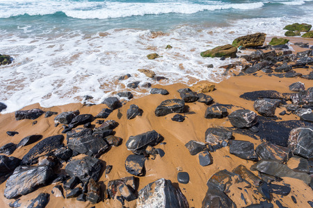 algarve: Algarve region coast beach, Portugal Stock Photo
