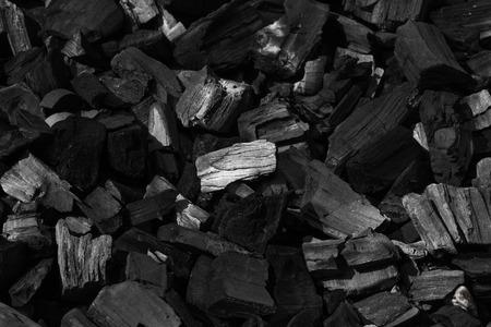 石炭鉱物キューブ石背景として黒
