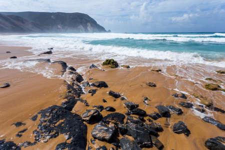 region of algarve: Atlantic ocean, Algarve region coast beach in Portugal