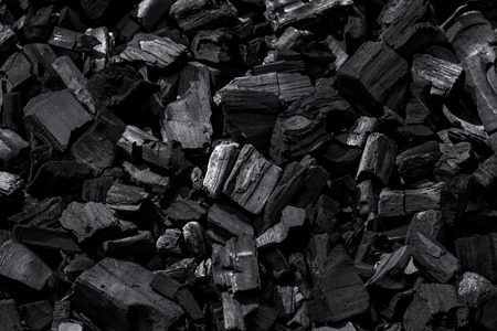 carbone: Coal mineral black as a cube stone background