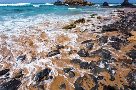 region of algarve: Atlantic ocean, Algarve region coast beach, Portugal Stock Photo