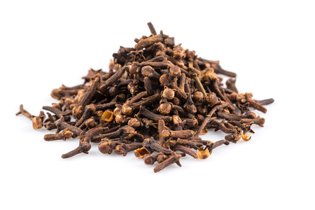 spice: Cloves spice isolated on a white background